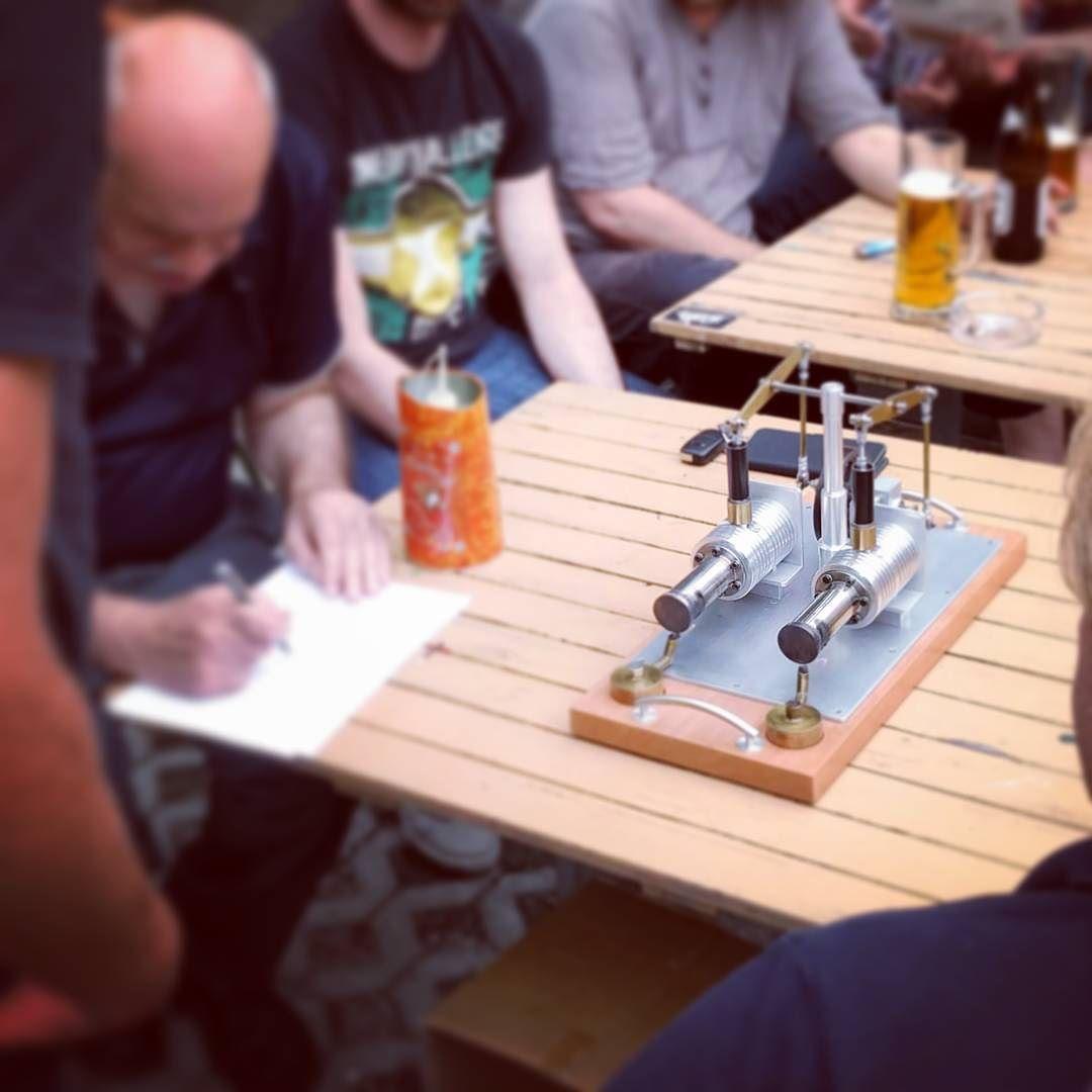 Stirlingmotor beim Steyr-Werke-Treffen am 21. Juli 2016